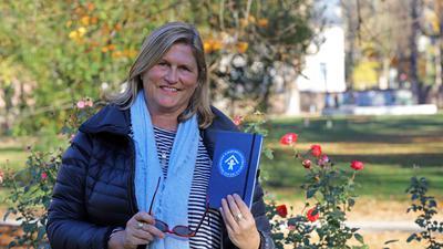 18.11.2020 Amélie Otterbach, neu im Vorstand des Kinderschutzbundes Karlsruhe, im Rosengarten des Durlacher Schlossgartens