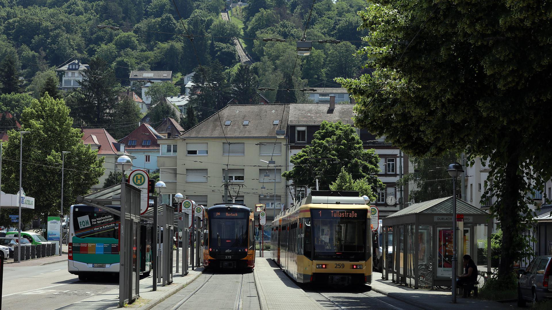 17.06.2021 Geplanter Neubau der Turmbergbahn  mit Verlängerung bis zur Endhaltestelle der Straßenbahn in Durlach