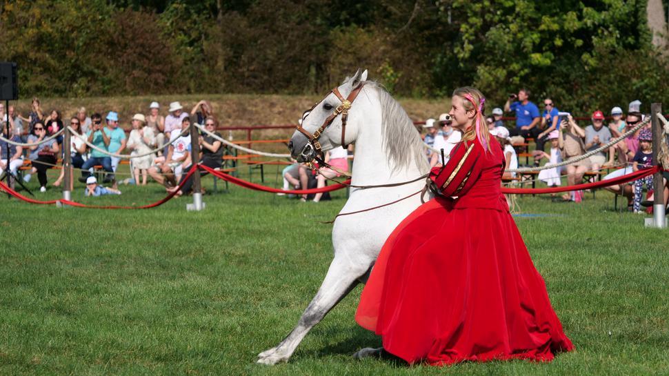 Hero Merkel mit ihrem Pferd