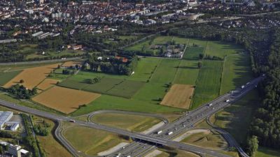 Gelände Untere Hub an der Autobahnanschlussstelle Karlsruhe-Nord 9/2008