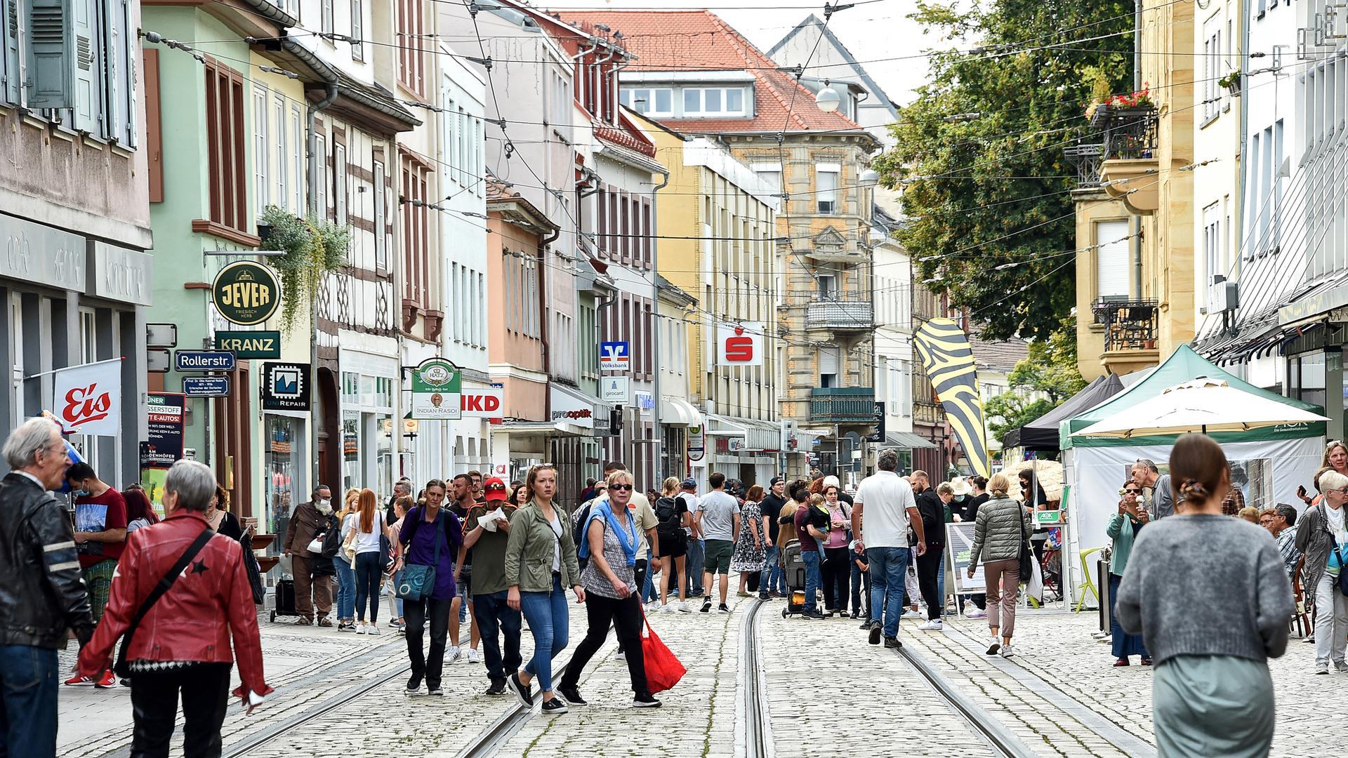 Verkaufsoffener Sonntag in der Durlacher Fußgänger Zone