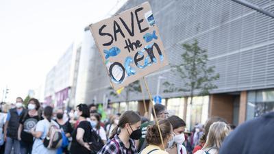 Demonstration von Fridays for Future in Karlsruhe