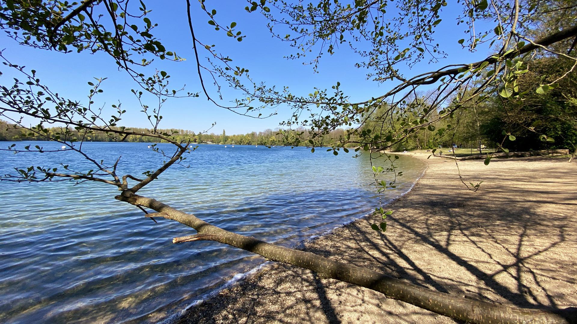 Idyllische Lage: Große Teile des Grötzinger Baggersees stehen unter Naturschutz.