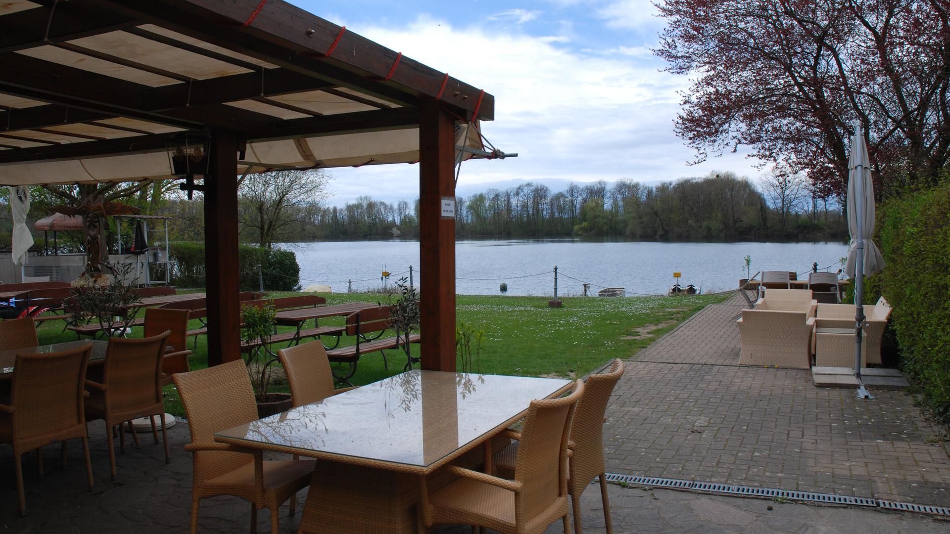 Schöne Aussicht: Beim Fischerheim Grötzingen kann man essen und dabei den Ausblick genießen.