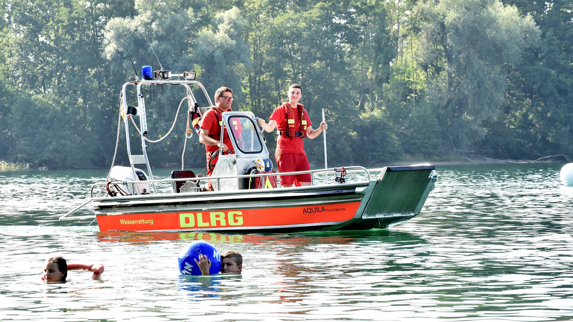 25.08.2019 Die DLRG Ortsgruppe Durlach am Grötzinger Baggersee