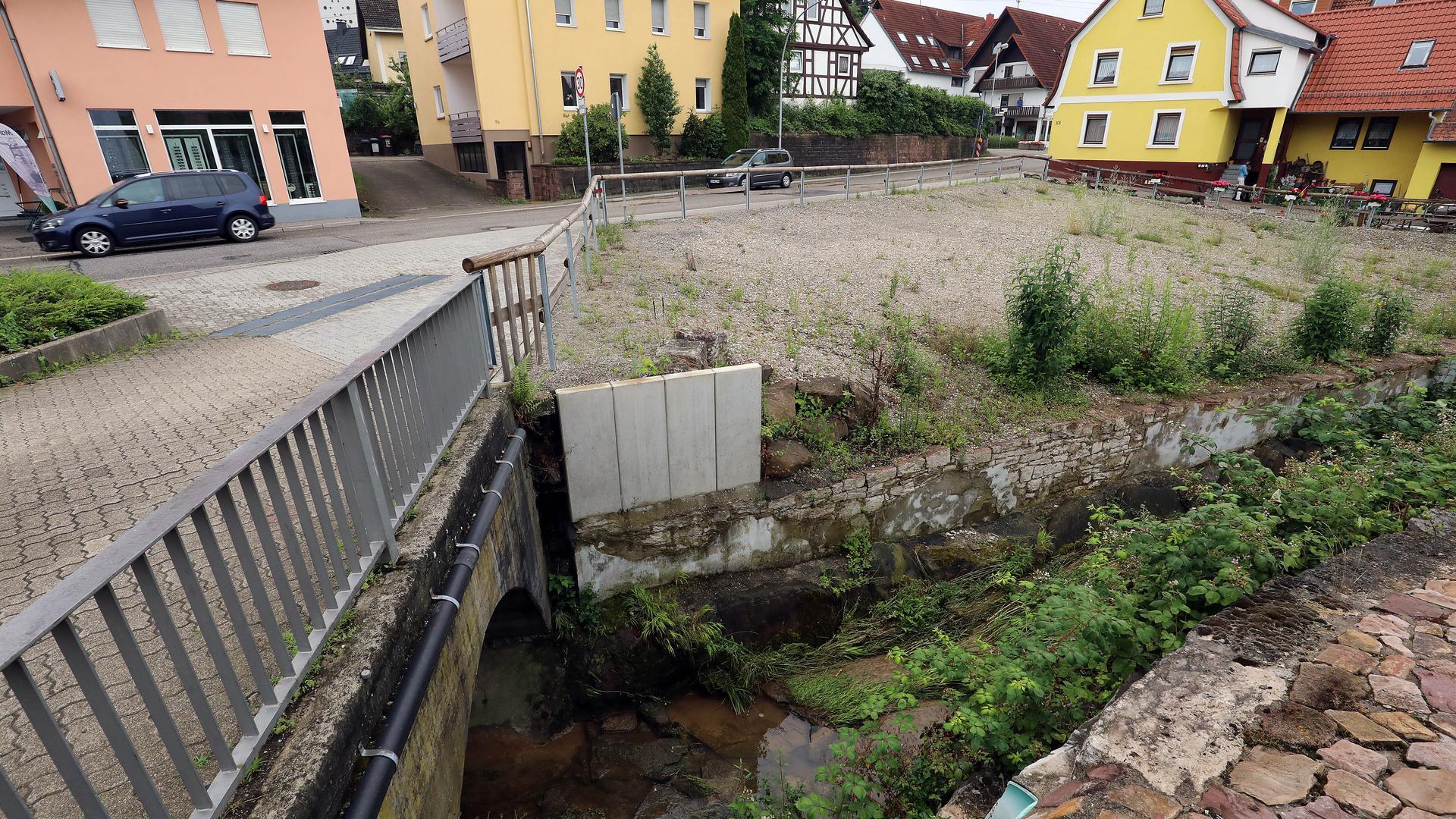 Eine Freifläche in Grünwettersbach