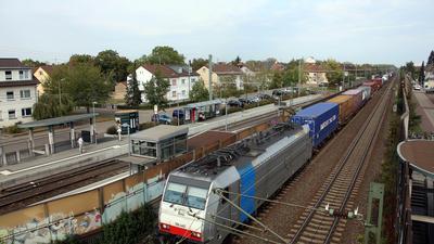 Bahnverkehr durch Karlsruhe-Hagsfeld