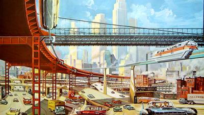 Futuristische Stadt