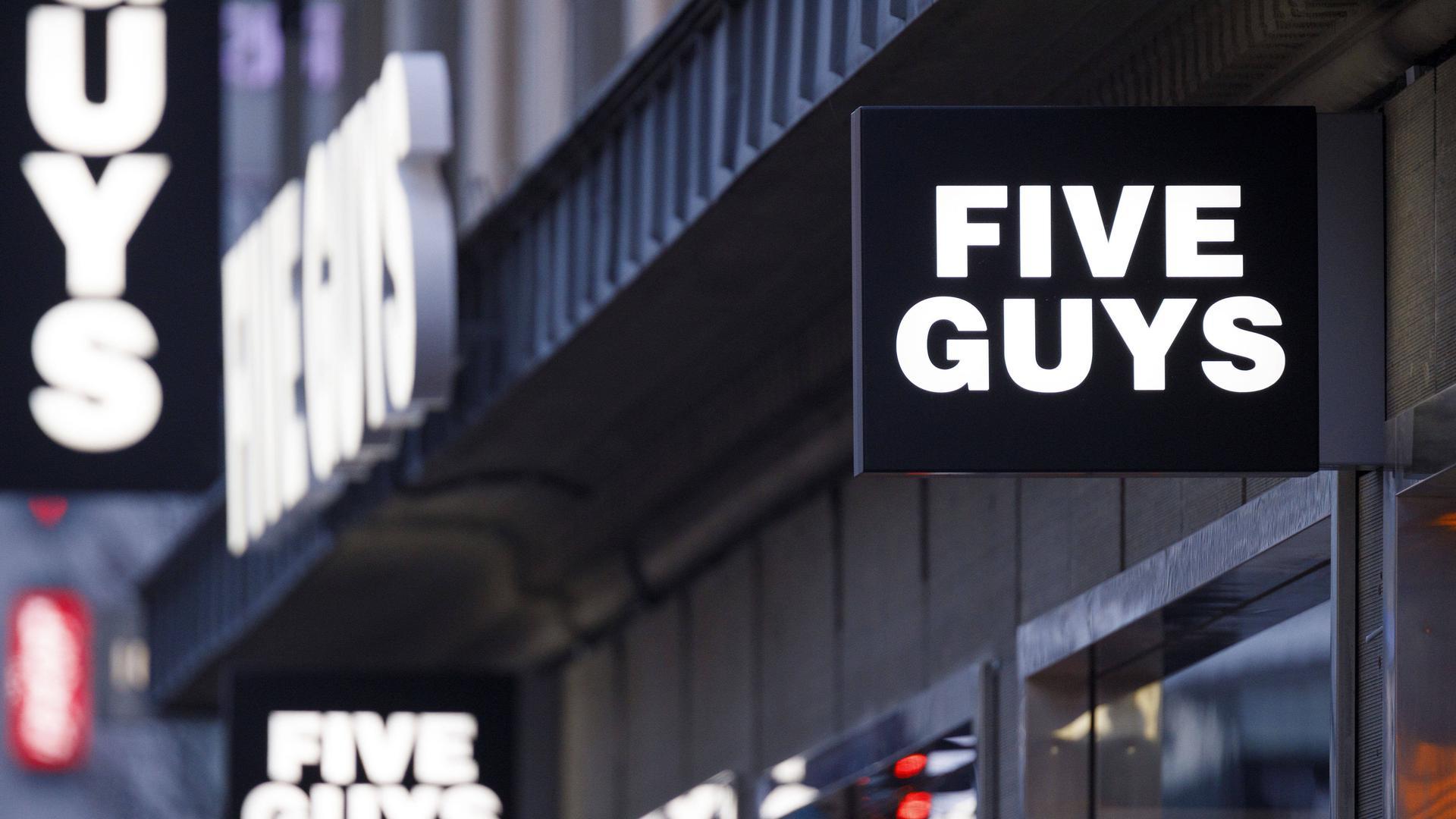 """Die Burger-Kette """"Five Guys"""" gibt es bald auch in Karlsruhe."""