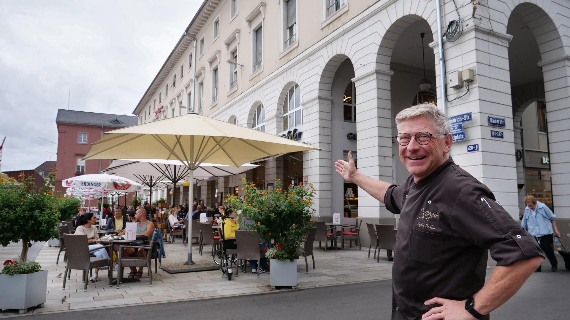 Vor dem Umbau: Der Konditorei-Unternehmer Stefan Böckeler hat viel vor mit seinem regional bekannten Kaffeehaus am Marktplatz.
