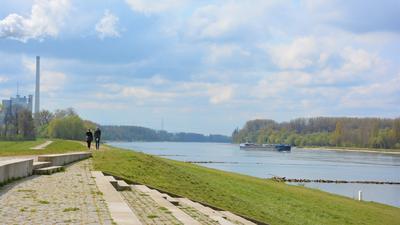 Rhein, Spaziergänger