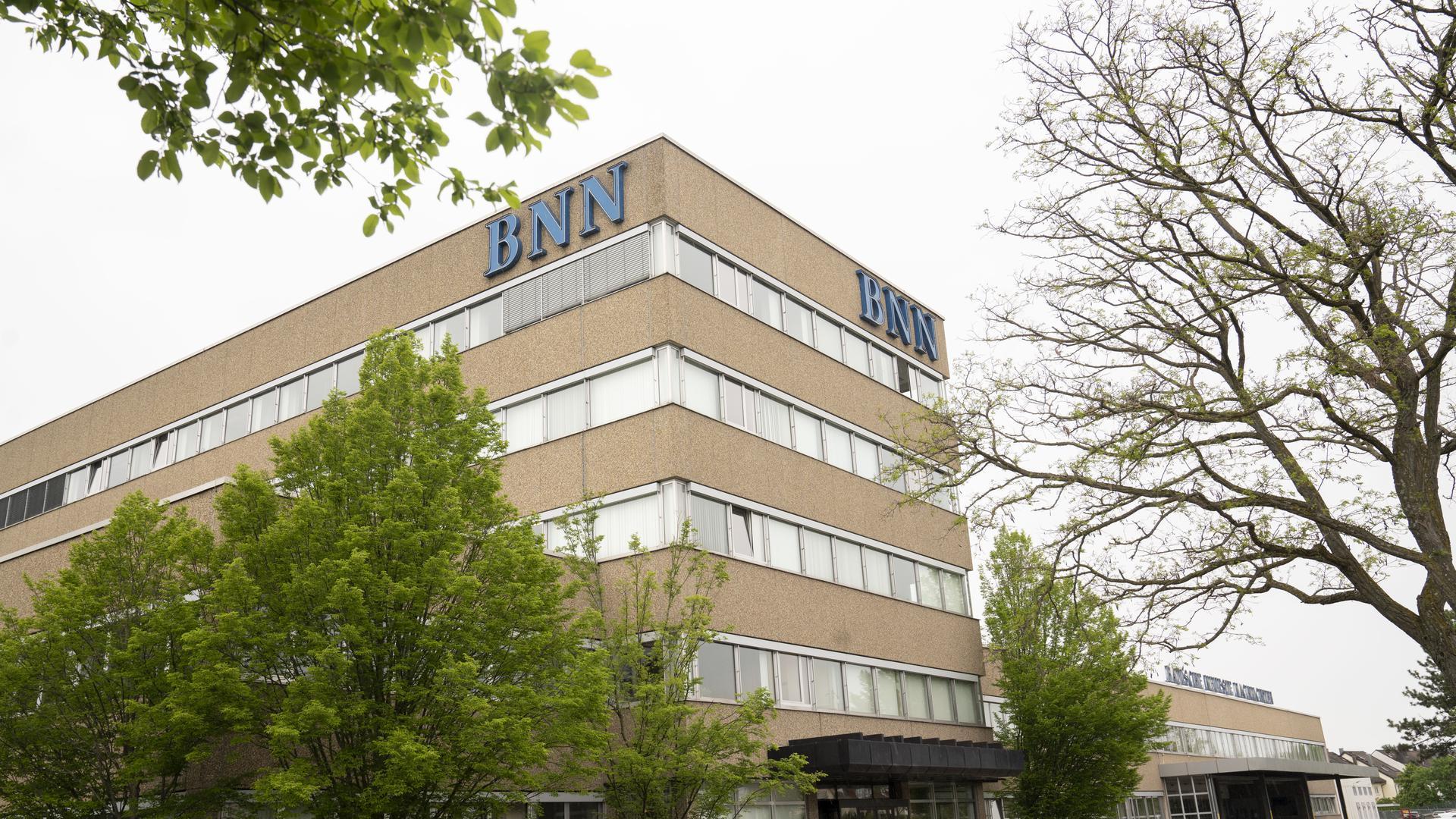 Das Gebäude der Badischen Neuesten Nachrichten in Karlsruhe-Neureut.
