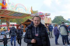 18.10.2020 Coronagerecht verkleinertes Herbstfest der Schausteller auf dem Messplatz, Mitorganisator Tobias Hoffmann