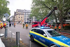 Großer Einsatz von Polizei und Feuerwehr in der Karlsruher Oststadt.