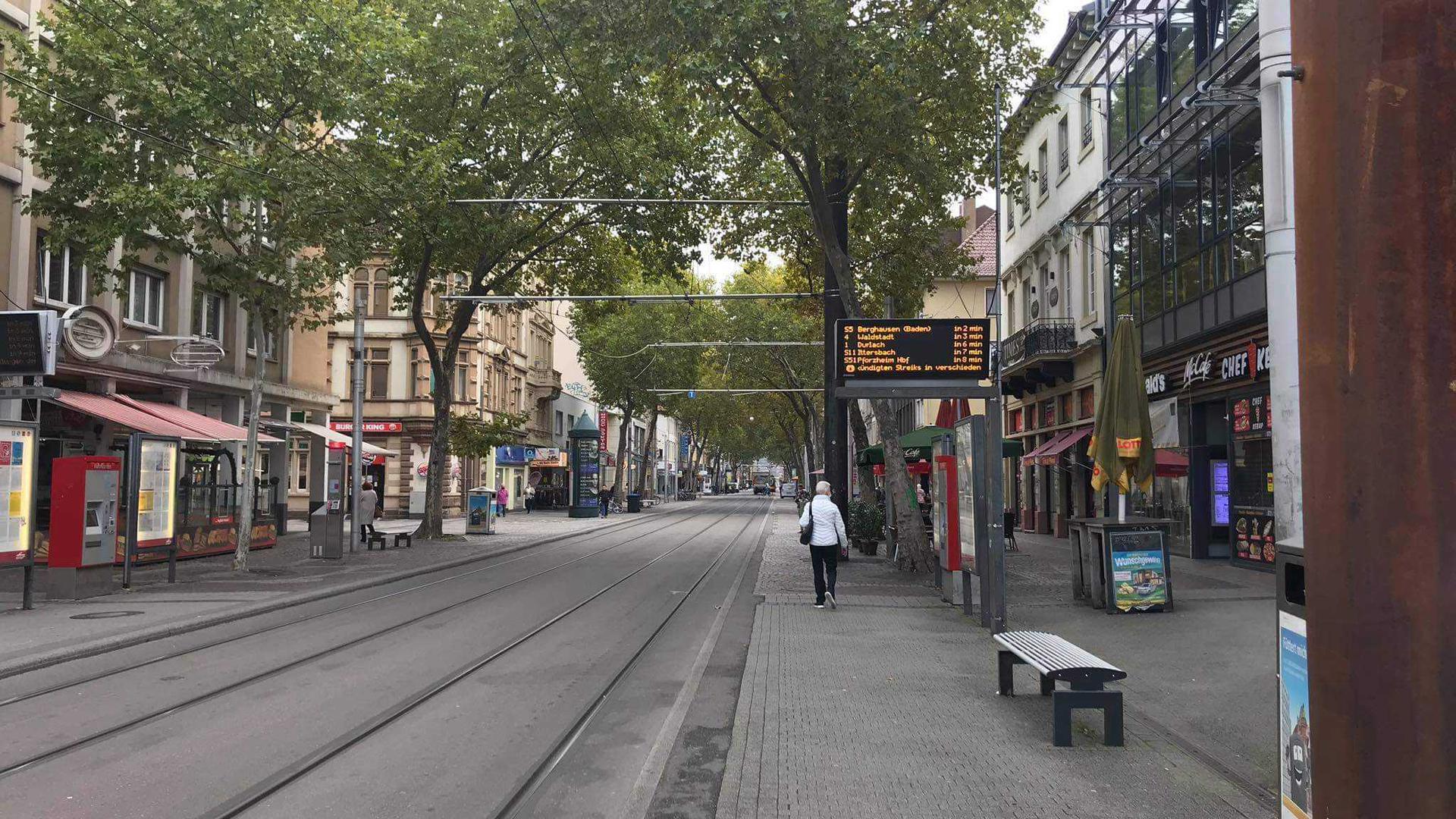 Leere Schienen Kaiserstraße