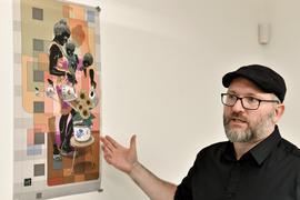 """Begehung des GWK Geländes in der Augartenstraße 68 mit Künstler und Streetarter Christian Krämer """"Dome"""""""