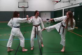 Von links nach rechts Julia Schulz (Locken), Elisa Kern(Zopf), und Anne Preckwinkel