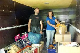 Hilfstransport Fluthelfer