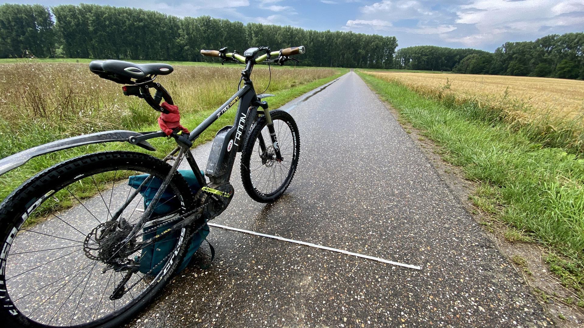 Fahrrad auf Weg