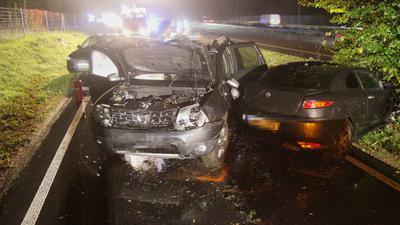 Drei Fahrzeuge waren an dem Verkehsunfall auf der B36 am Dienstagmorgen beteiligt.