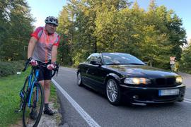 Bernd Schnürer arbeitet in Durlach und fährt die Strecke etwa zweimal pro Woche mit dem Rad.