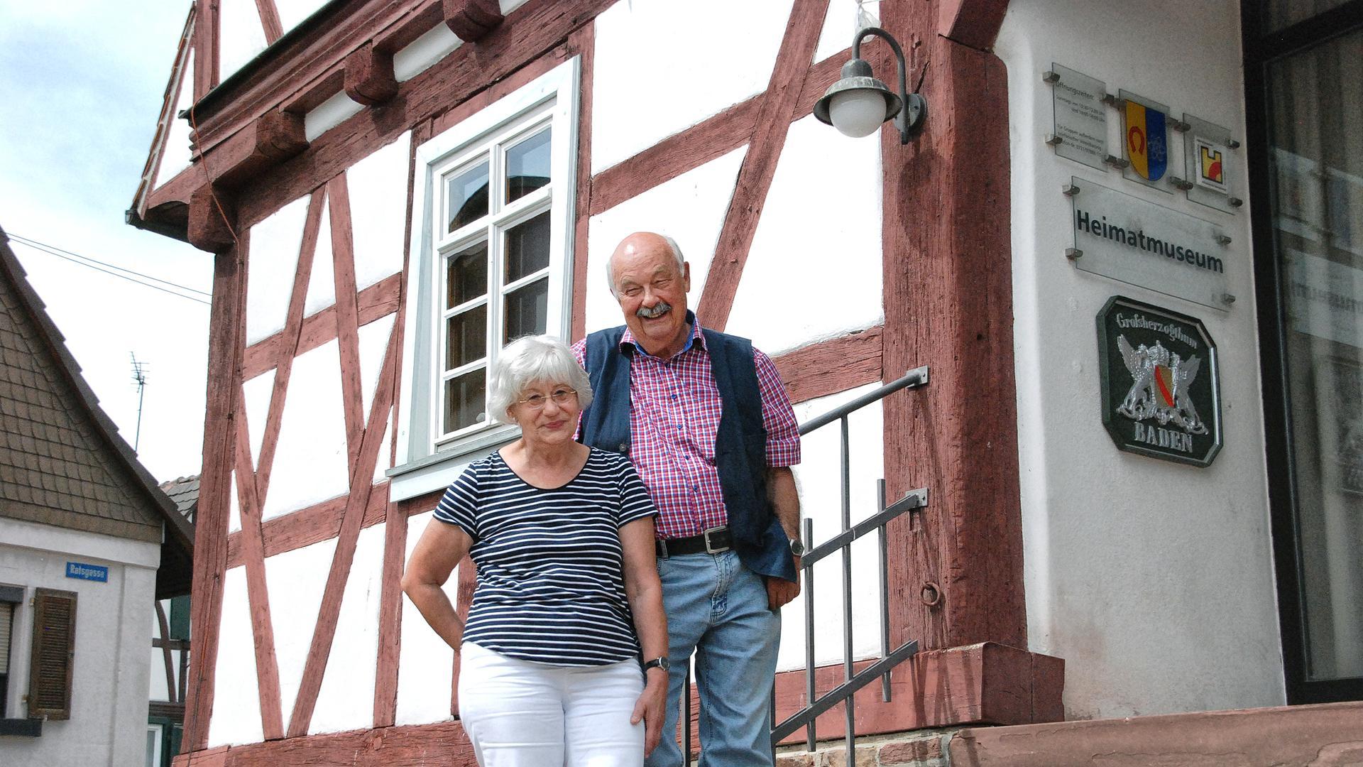 Otti und Wolfgang Knobloch, Heimatmuseum Egg-Leop.