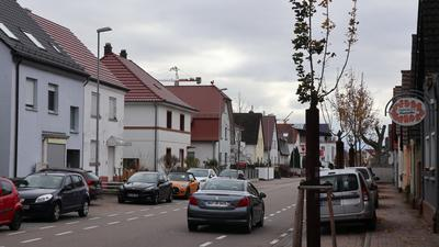 Häuser, Straße, Bäume