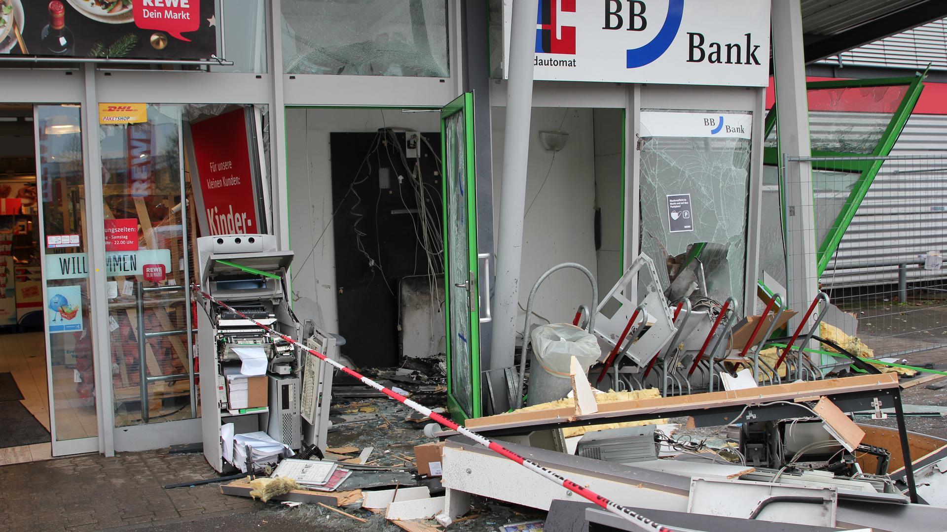 Sprengung Geldautomat Graben-Neudorf 14.1.2021