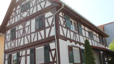 Front eines Fachwerkhauses
