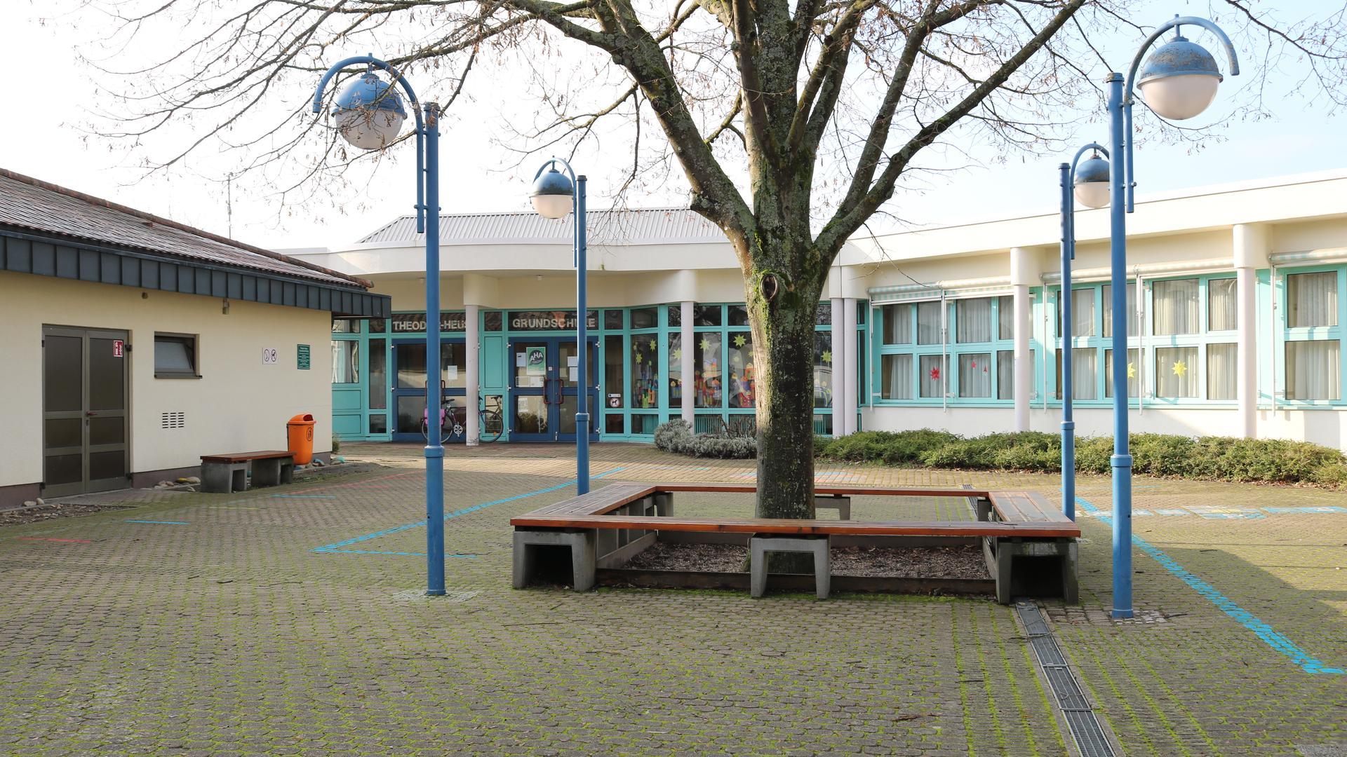 Ein leerer Schulhof
