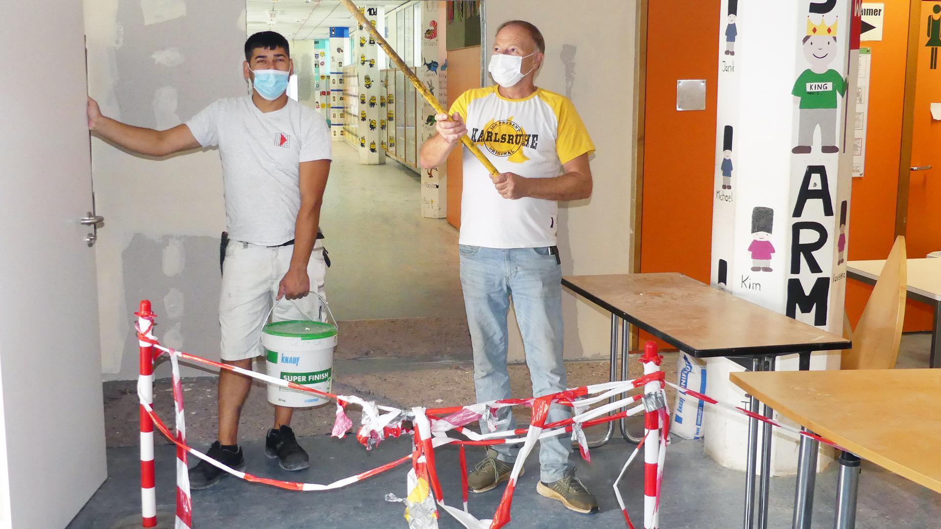 Arbeiten am Schulzentrum Stutensee