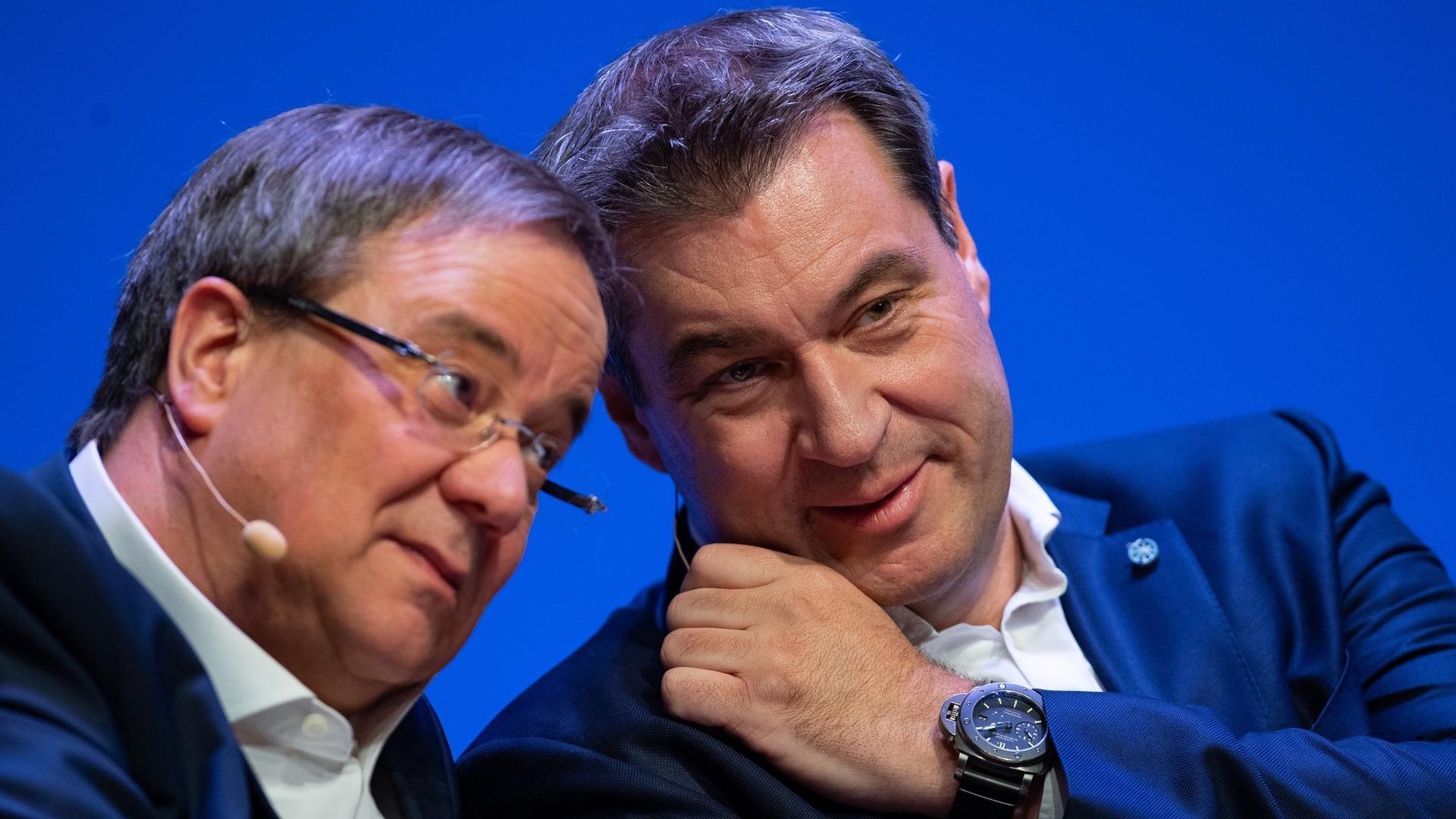 Armin Laschet (l) und Markus Söder: Wird einer der beiden Kanzlerkandidat der Union für die Bundestagswahl im September?
