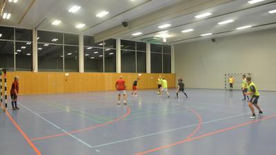 Sportler in Halle