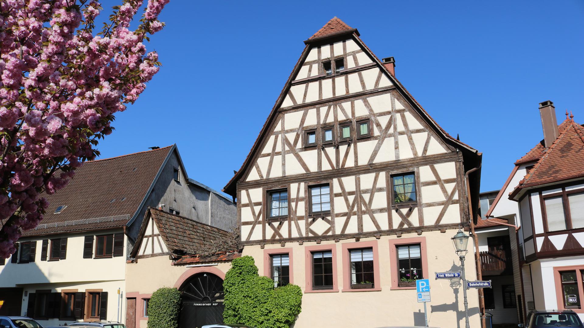 In 1621 erbaut: Das Haupthaus der Fränkischen Hofanlage, die im Ganzen erhalten blieb.