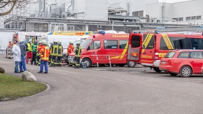 Feuerwehreinsatz Weingarten Pflanz Chemie 22.1.