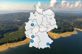 In Deutschland kennt man größere PFC-Belastungen in Baden-Württemberg, Bayern und Nordrhein-Westfalen.