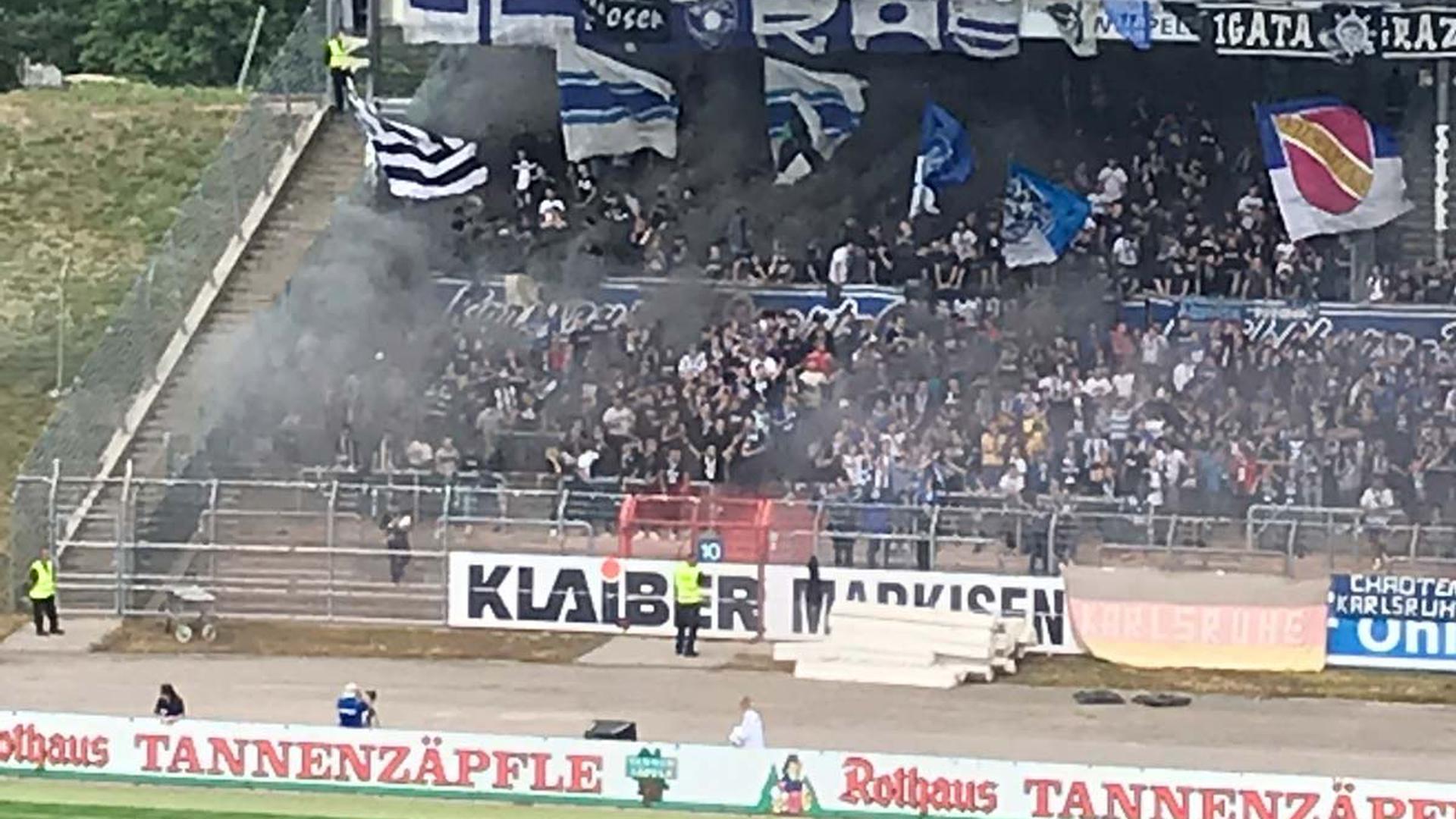 KSC, Graz und Hertha-Fans vereint