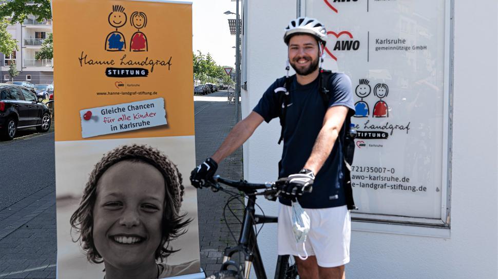 Karlsruher Martin Faißt möchte in Kooperation mit der Hanne-Landgraf-Stiftung 1.300 Kilometer von Karlsruhe nach Berlin fahren und dabei Spenden sammeln