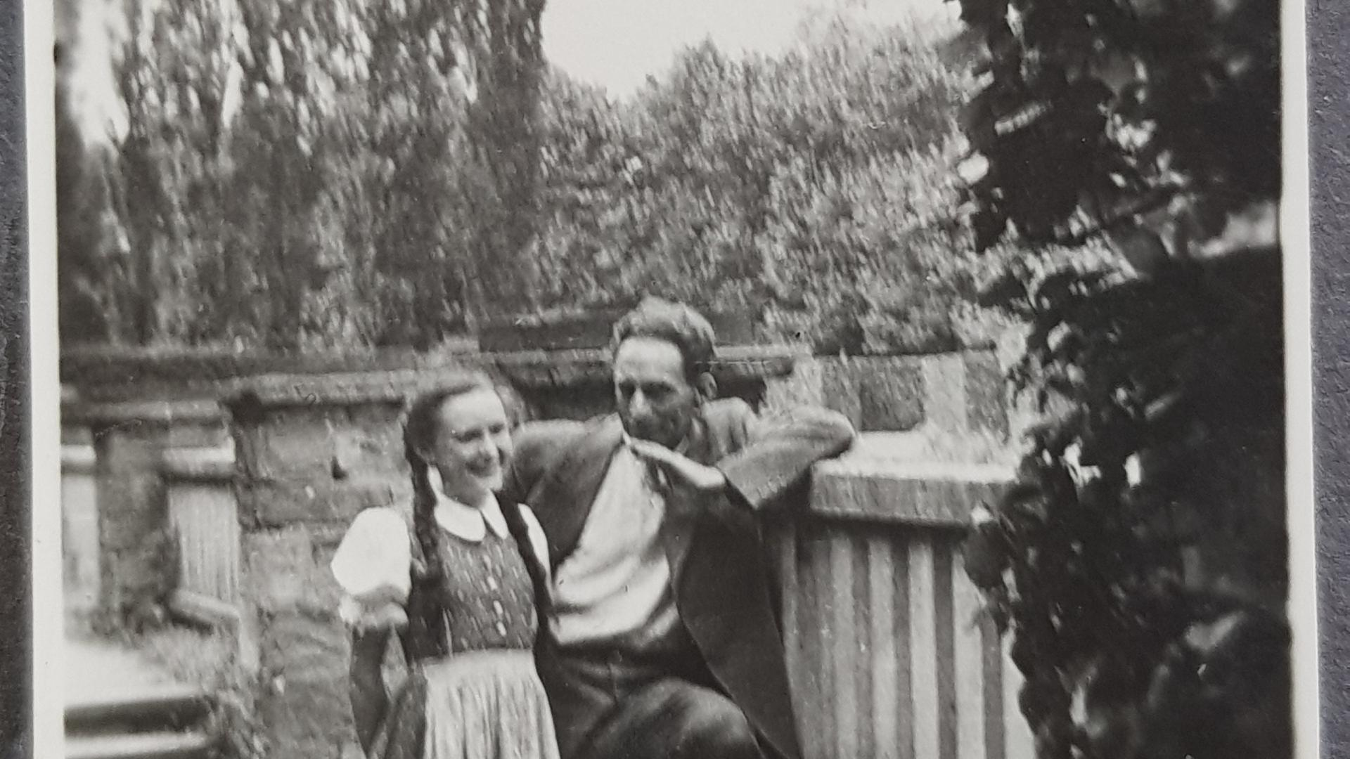 Sieglinde Vater aus Karlsruhe mit ihren Vater Max