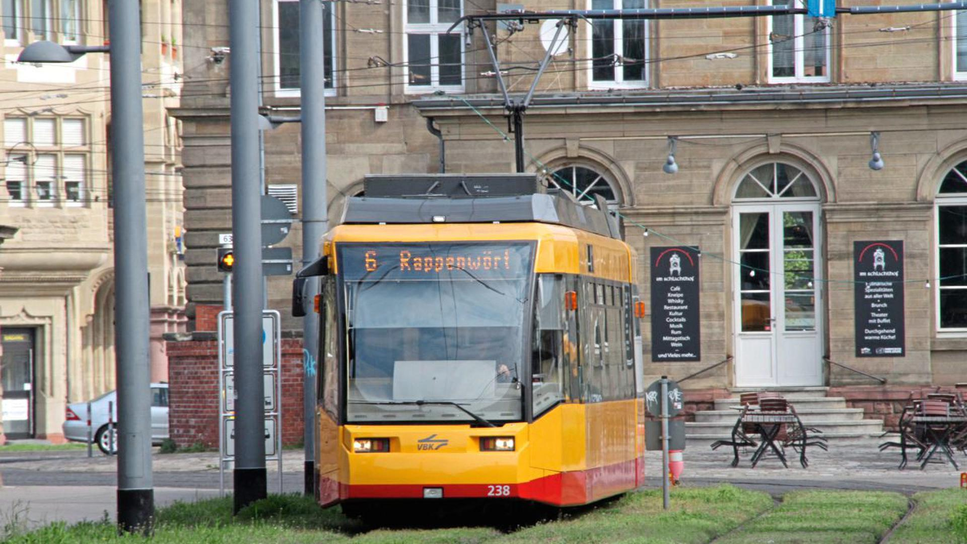 Straßenbahn 6 Rappenwört Karlsruhe