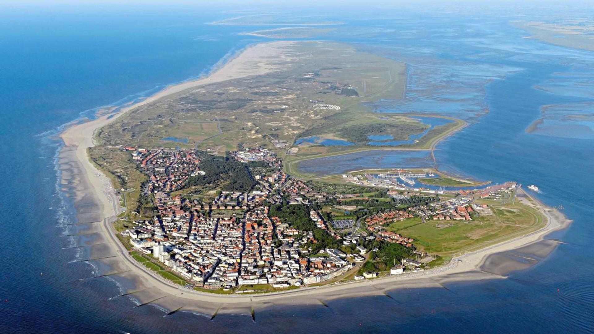 Luftbildaufnahme von Norderney