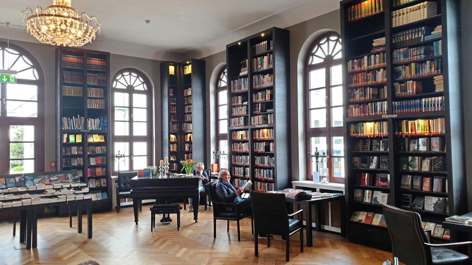 die Bibliothek im Conservationshaus auf Norderney