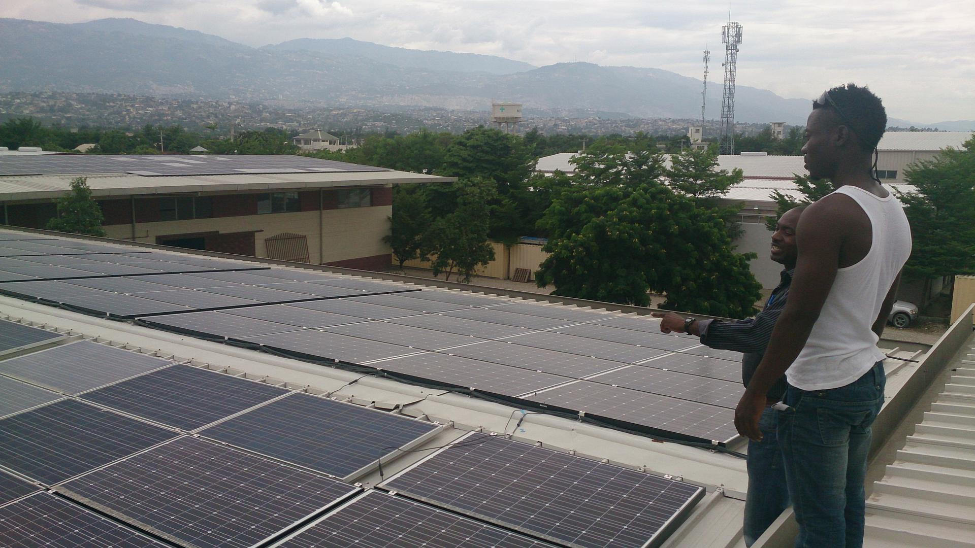 Die erste Solaranlage in Haiti wurde 2013 eingeweiht.