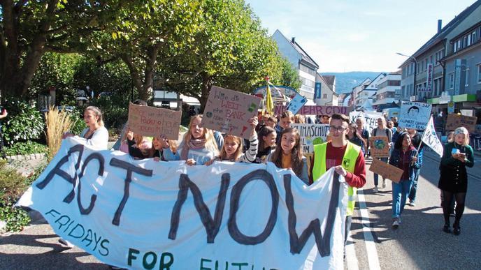 Auch in Achern sind viele Klimademonstranten im Rahmen der Fridays for Future-Demo auf den Straßen gewesen.