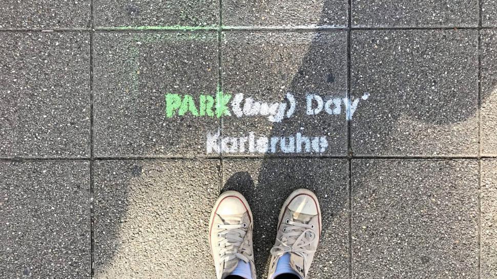 Parking Day 2019 in der nördlichen Karlstraße in Karlsruhe