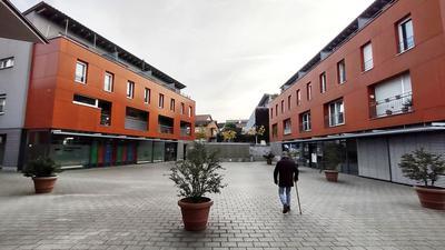 Der europäische Gedanke im Zentrum: Schon mit dem Namen Europaplatz in Berghausen will Pfinztal seine Weltoffenheit ausdrücken. Antisemitismus stellt sich die Gemeinde aktiv entgegen, wie im Jahr 2019 vor der Europawahl