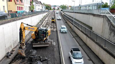 Baustelle + Fahrzeuge