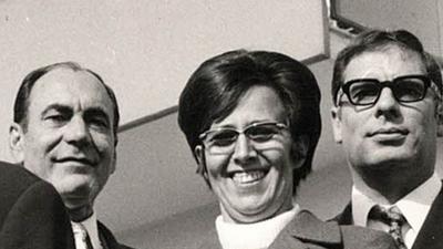 Frau in den 70er Jahren