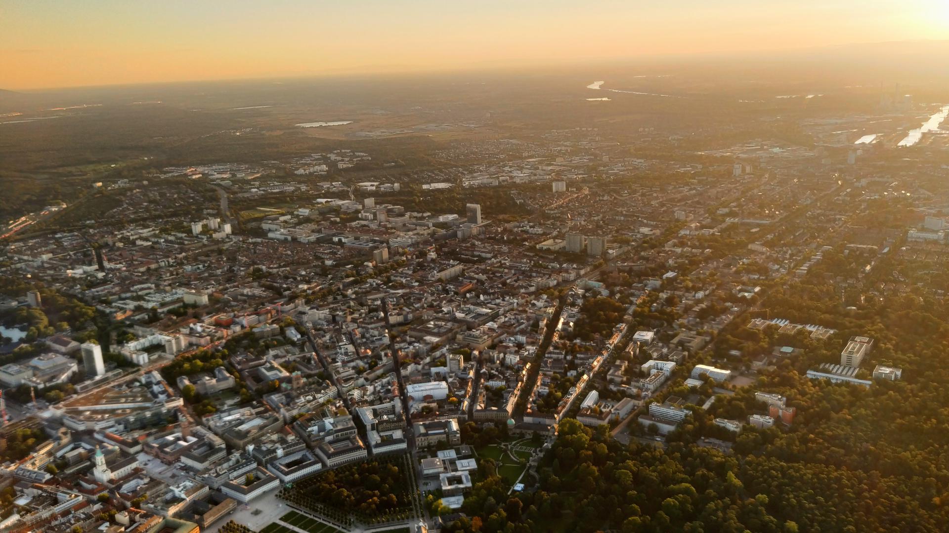 Luftaufnahme von Karlsruhe