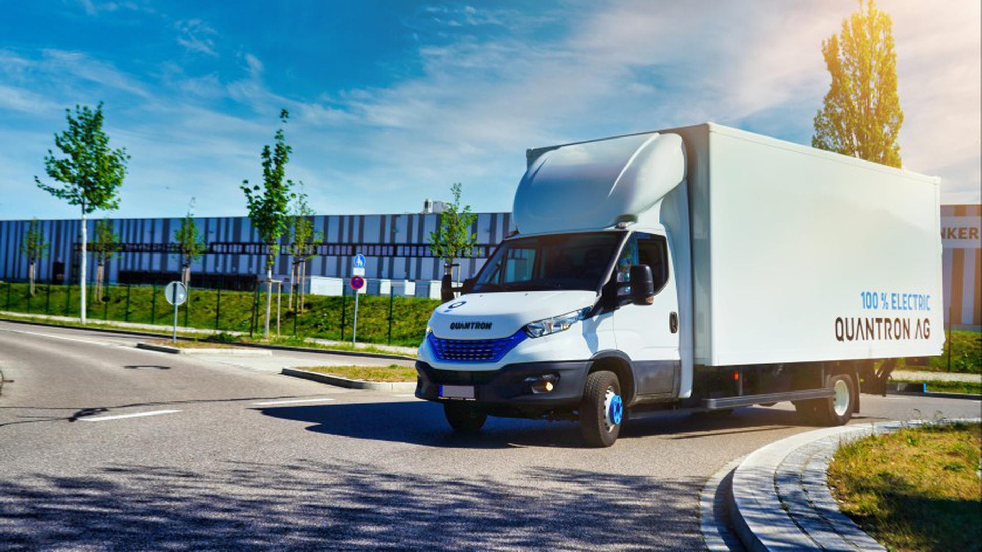 Wasserstoff-Brennstoffzellen-Transporter der Quantron AG